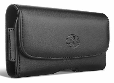 For LG X charge leather belt clip Belt Loop Holster phone case holder pouch
