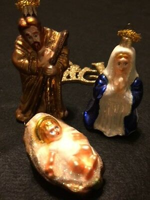 Blown Glass Ornaments** Holy Family** Rare** Holiday/christmas**