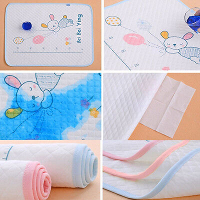 AL_ Travel Eco-cotton Nappy Changing Bed Cartoon Diaper Mat Baby Waterproof Pad