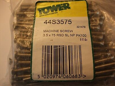 106 XTOWER 44s3575 SLOTTED SCREWS FOR FIXING ELECTRIC  SOCKETS M3.5 X 75mm