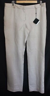 BROOKS BROTHERS ~ Designer Lucia Fit Cream Beige Linen Dressy Pants NWT US 14 16