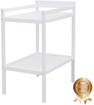 Baby Infant Change Table White Storage and Organisation Nursery Table