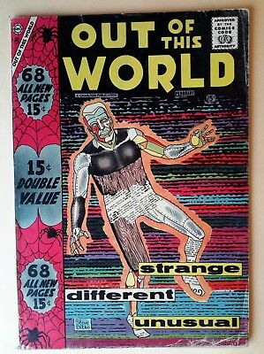 Charlton comic.'Out of this World'#7.1958. Very Good/4.0.
