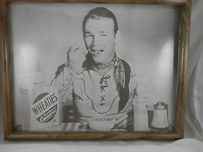 """Vintage Roy Rogers Wheaties Ad picture 15"""" X 10"""""""