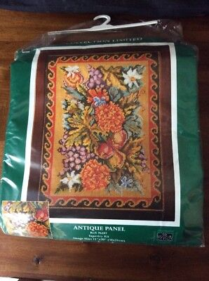 The Craft Collection Tapestry Kit, Antique Panel, #76287, Complete, Opened