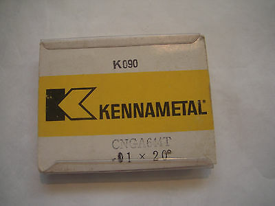 New Kennametal Cnga-644T .01 X 20* Grade K090 Ceramic Indexable Turning Inserts