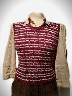    1970s Does 1940s    Handknitted    Striped Fair Isle   