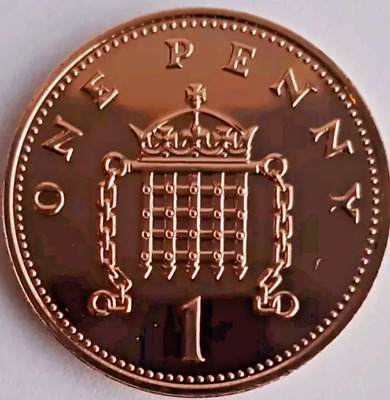 1983 - 2008 Royal Mint Crowned Portcullis chains one penny 1p coins Uncirculated