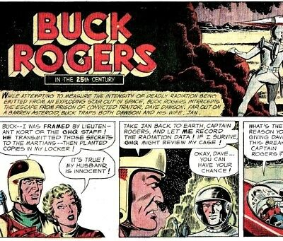 BUCK ROGERS STRIPS Vintage Sci Fi Pulp Comics on DVD Rom