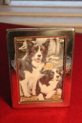"Sterling silver photograph frame  Externally 7"" by 5"" (5.5 by 3.5 pic) HM 925"