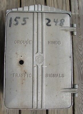 Crouse Hinds Art Deco Cast Aluminum Cabinet Traffic Signal Light (A)