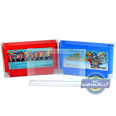 100 Protector for Famicom Game Cart Cartridge Nintendo STRONG 0.4mm Plastic Case