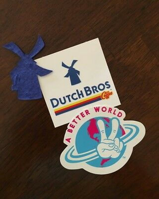"""Dutch Bros Coffee Easter Sticker and Flower Seed """" A Better World """""""
