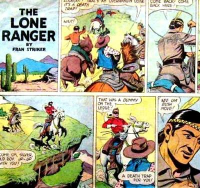 THE LONE RANGER - Vintage US Newspaper Cartoon Strips Comics on DVD Rom
