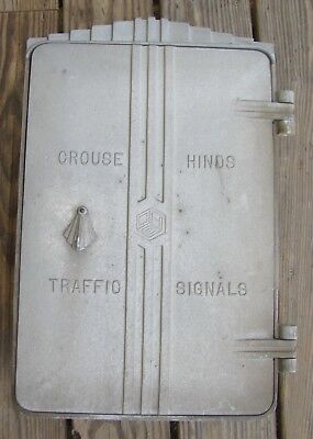 Crouse Hinds Art Deco Cast Aluminum Cabinet Traffic Signal Light (D)