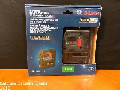 Bosch GPL 5 S 5 Point Self Leveling Alignment Laser
