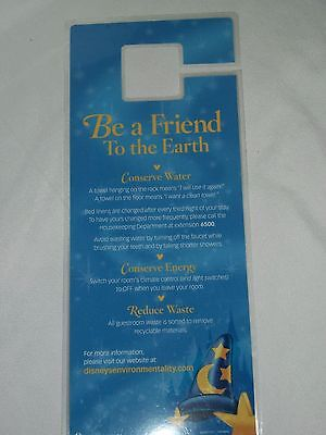 Disneyland Hotel Room Be A Friend to the Earth Conserve Water Hang Tag Disney