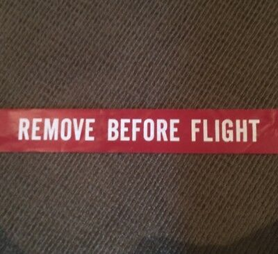 HUGE Boeing 747 Remove Before Flight Flag Tag