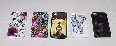 LOT of (5) iPhone 4 / 4S cell phone cases