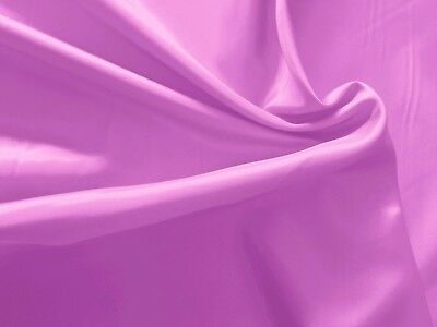 PURPLE ORCHID LILAC Feather-Light Wt HIGH SHEEN Poly Silk-Like Fabric & Lining