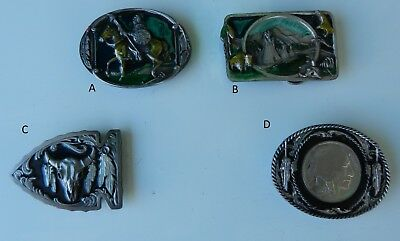 Belt Buckle Indian on Horse Arrow Sitting Bull Tipi Genuine Made in USA