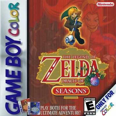 The Legend of Zelda Oracle of Seasons GBC NINTENDO GameBoy Color Video Game