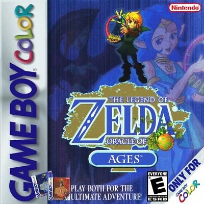The Legend of Zelda Oracle of Ages GBC NINTENDO GameBoy Color Video Game