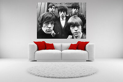 Rolling Stones Canvas Vintage Giclee Print Picture Unframed Home Decor Wall Art