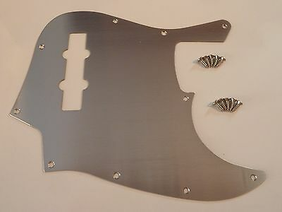 Stainless Steel Pickguard For Jazz Bass Style Brush Finish