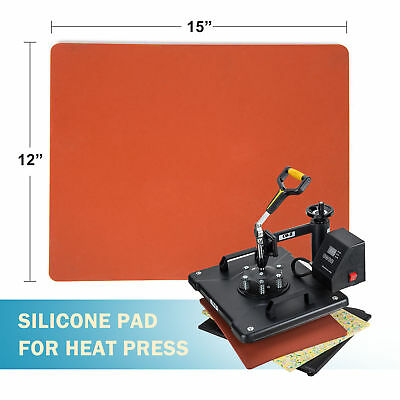 """Silicone Pad Flat Heat Press Replacement Heat Resistant Silicone Mat 12"""" ×15"""""""