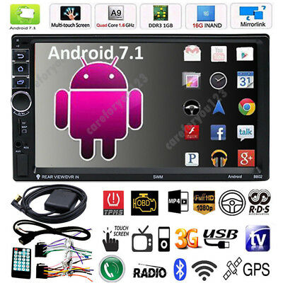 Smart Android WiFi Double 2DIN Car Radio Stereo DVD Player GPS 1080P MP5 Player