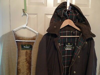 Barbour - A400 Northumbria Waxed Cotton Jacket With Hood & Liner-Rare-Made@uk-40