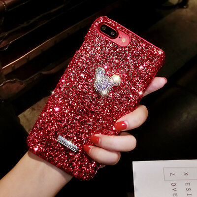Fashion Diamond Glitter Shining Cute Mickey Case Cover For iPhone Xs Max Xr X 8+