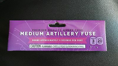 """(1) Medium Artillery Hobby """"CANNON FUSE"""" Safety Fuse Labels"""