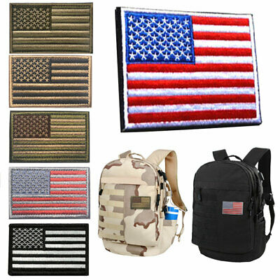 American flag USA patriotic gold border embroidered patch appliques