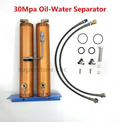 30Mpa Water-Oil Air Filter Separator Double Bucket Filtration Scuba Diving Pump