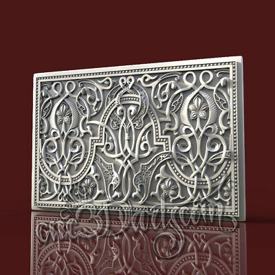 3D Model STL CNC Router Artcam Aspire Wall Panel Arab Pattern Decor Cut3D Vcarve