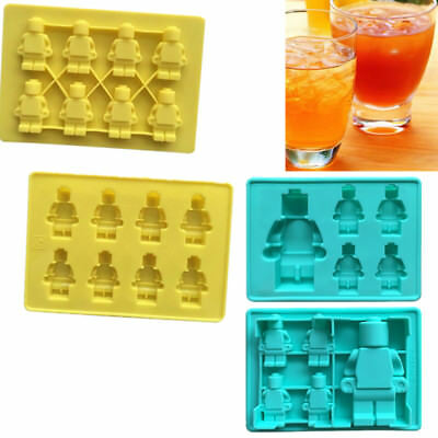 5/8 Cups Robot Silicone Mould Lego Sugarcraft Jelly Chocolate Mold Ice Cube Tray