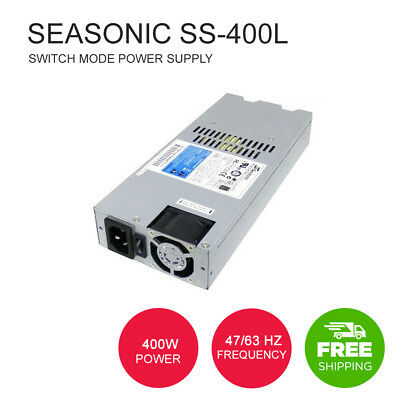 Seasonic SS-400L 1U Active PFC High Efficiency Reliability Low Ripple and Noise