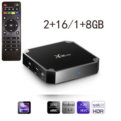 X96 mini Android 7.1 4K UHD Smart TV BOX 8G/16G WIFI Backlight Media Player