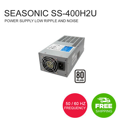 Seasonic SS-400H2U Active PFC 80+ 2U 400W Power Supply Low Ripple and Noise