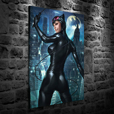 HD Print Oil Painting Decor Art on Canvas Catwoman Sideshow 12x18inch Unframed
