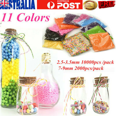 Mini Styrofoam Polystyrene Filler Foam Beads Balls Assorted Multi-Color Craft