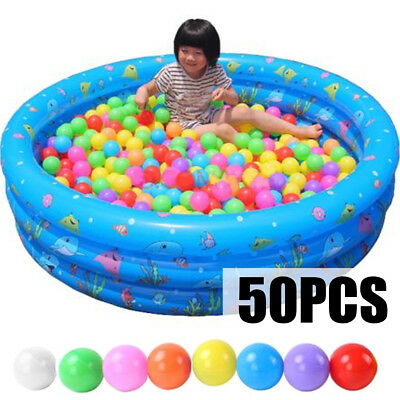 50X 5.5cm Ocean Ball Swim Pool Fun Colorful Soft Plastic Secure Baby Kid Pit Toy