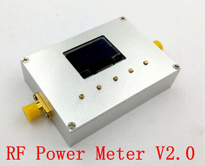 New Aluminum OLED 10GHz RF Power Meter 100KHz-10GHz -60~0dBm Digital Radio