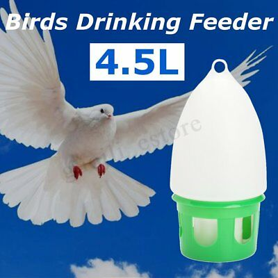 AU 4.5L Water Dove Drink Dispenser Pigeon Birds Accessories Canary Water Feeders