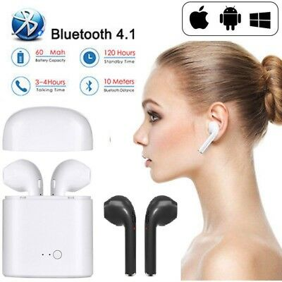 2 Ecouteurs Sans Fil Type Apple Airpods + Boite De Charge - Wireless Iphone Ipad