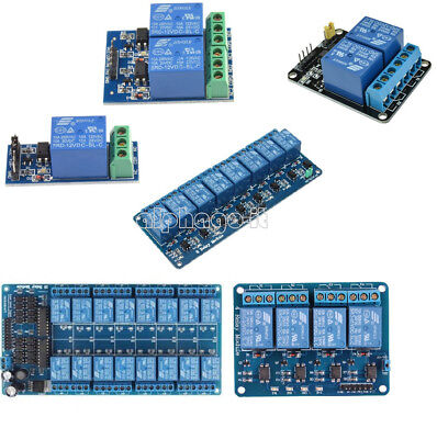 12V 1/2/4/8/16 Channel Relay Module With optocoupler For PIC AVR DSP ARM Arduino