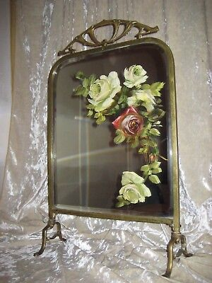 Antique French Art Nouveau Mirror or small Fire Place Screen