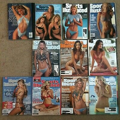 Lot Of 11 Sports illustrated Swimsuit Issues. Good Condition
